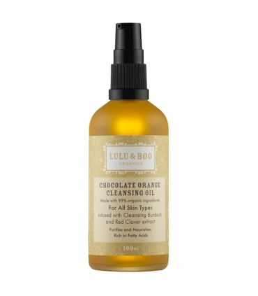 Chocolate and orange cleansing oil