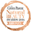 Organic cosmetics award the green parent 2016 bronce logo